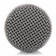 Постер, плакат: Metallic microphone mesh