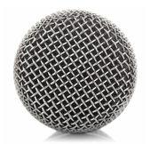 Kovový mikrofon ok — Stock fotografie