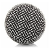 Metallic microphone mesh — 图库照片