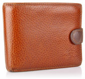 Leather old purse — 图库照片