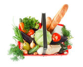 Basket with products — Stock Photo