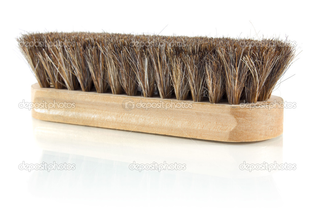 Brush for cleaning shoes isolated on white background — Stock Photo #8798142