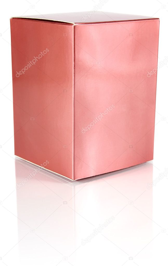 Cardboard box for toilet water isolated on white background — Stock Photo #9367985