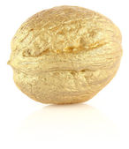 Golden nut — Stock Photo