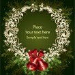 Vector de stock : Christmas wreath with bells