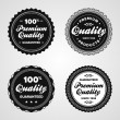 Vintage premium quality badges — Vector de stock