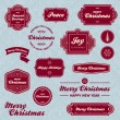 Christmas holiday labels — Stock Vector