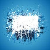 Blue grunge splatter — Stock Vector