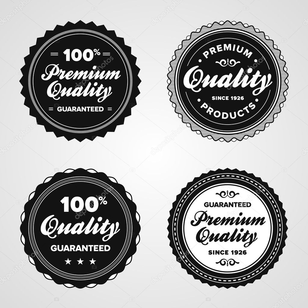 Set of vintage retro premium quality badges and labels  Stock Vector #7951469