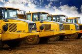 Tippvagn lastbilar — Stockfoto
