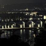 Brücken in Prag bei Nacht — Stock Photo #7960171