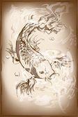 Japanese koi fish — Stock Vector