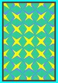 The pattern of volume four stars with radial frame on a yellow background