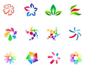 12 different colorful vector symbols: (set 3)