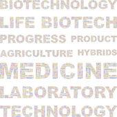 Biotechnologie. bezešvá vektorová vzorek s slovo mrak