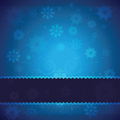Blue Vector Christmas background with white snowflakes and place for your text