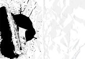 Vector illustration saxophone on white background