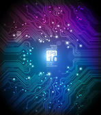 Circuit board abstract vector colorful background