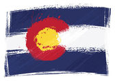 State of Colorado flag created in grunge style