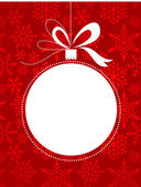 Christmas background with snowflakes pattern vector