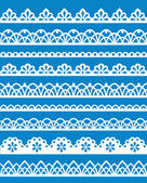 Set of different lace patterns EPS8
