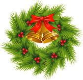 Christmas Wreath over white EPS 8 AI JPEG
