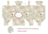 Favor box die cut Floral pattern Empty label