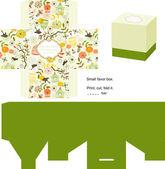 Favor box die cut Naturel pattern Empty label