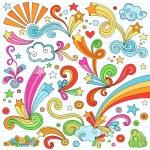 Постер, плакат: Notebook Doodles Vector Illustration Design Elements