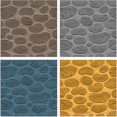 Four seamless stone background different colors