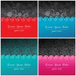 Set of beautiful floral backgrounds