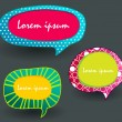 Set of colorful text bubbles