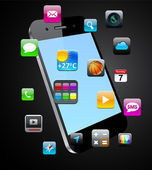 Vector Concept communicator with app icons