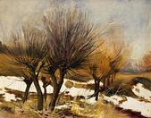 Beautiful Original Oil Painting Landscape On Canvas