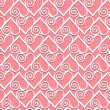 Lace heart seamless pattern