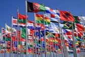 A nemzeti zászlók, a világ minden tájáról