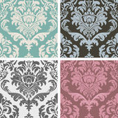 Creative Abstract Isolated Decor Design Of Fancy Damask Floral Pattern Design