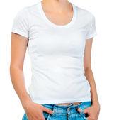 Bílé tričko na dívku