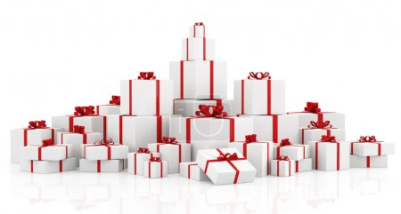 Gift boxes over white