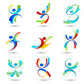 Collection of sports icons Vector illustration