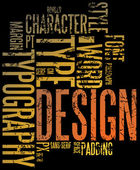 Grunge design and typography background