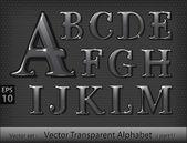 Vector illustration of glass alphabet (part1)