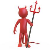 Devil pózuje s Athénou červené a černé