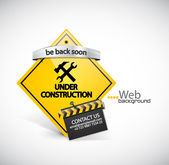 Under construction vector background