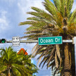thumbnail of Street sign ocean drive  of famous South Miami Art deco alle