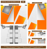 Coffee Shop Business Template Set 03 Vector Illustration