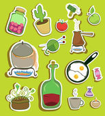 Stickers collection of different objects of household