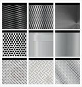 Metal texture 9 set Illustration vector