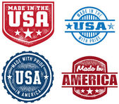 Selection of made in USA/America stamps