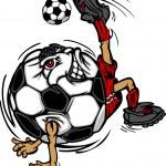 Постер, плакат: Soccer Football Ball Player Cartoon